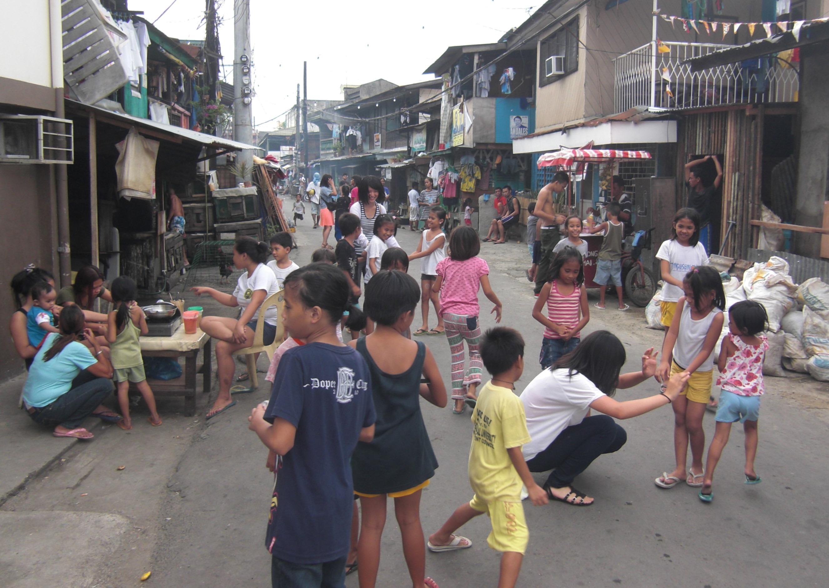 フィリピンの町の様子