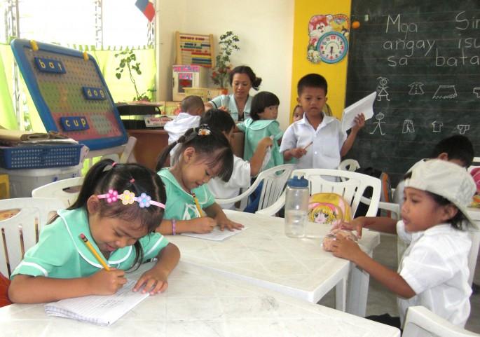 フィリピンの幼稚園のイメージ
