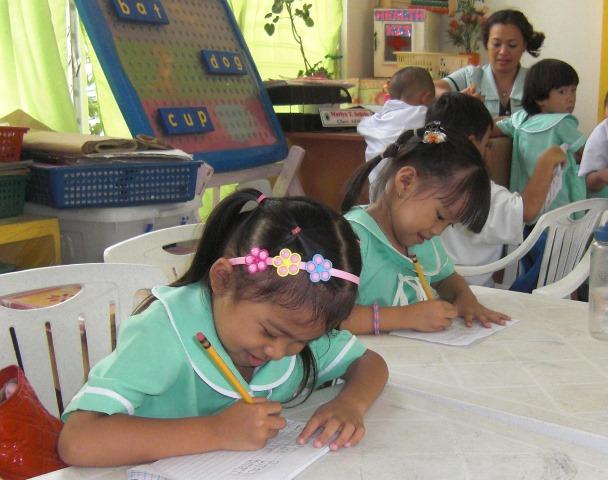 幼稚園の授業風景