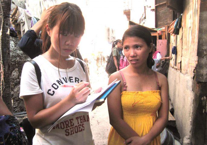 スラム街のボランティア活動