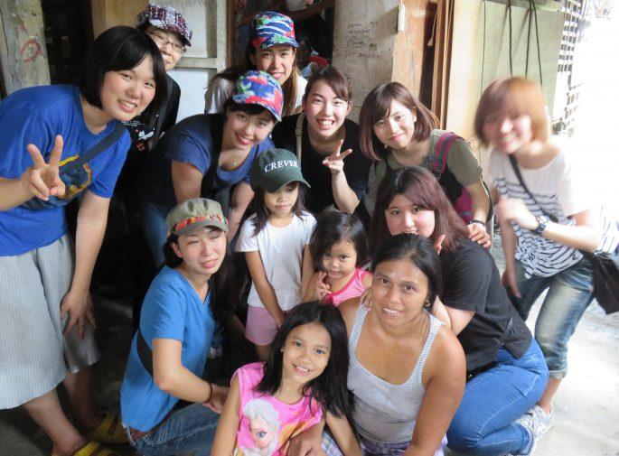 スラム街のボランティア経験