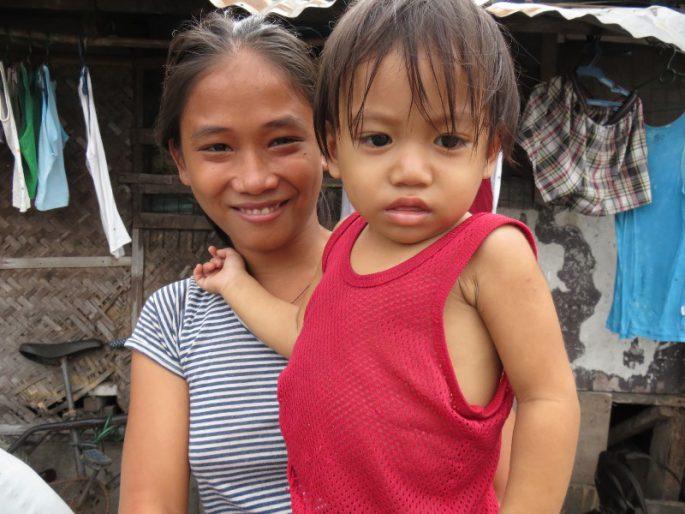フィリピンの貧困家庭