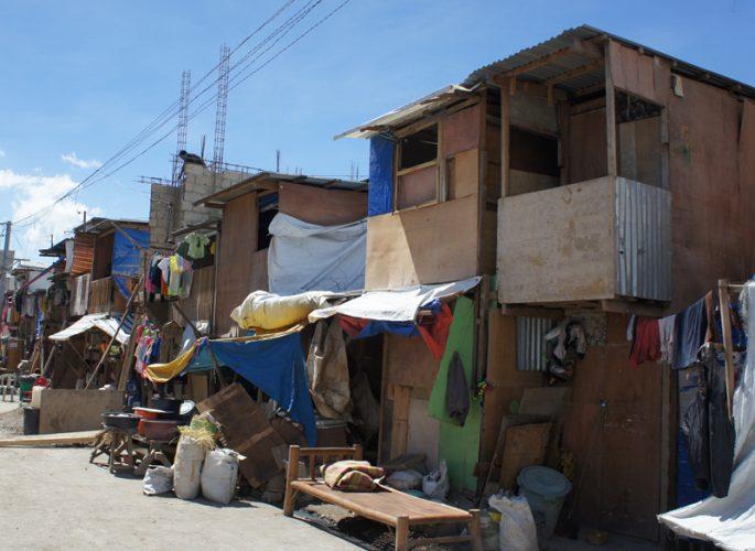 スラム街の家
