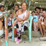 セブの山村集落でボランティア